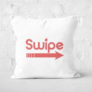 Swipe Right Square Cushion