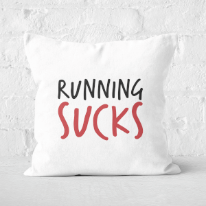 Running Sucks Square Cushion