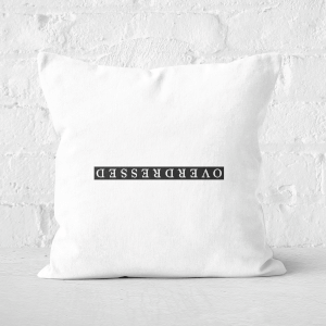 Overdressed Black Square Cushion