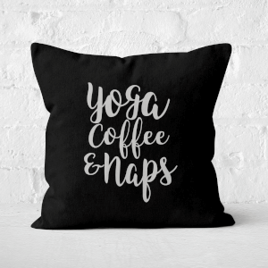 Yoga Coffee And Naps Square Cushion