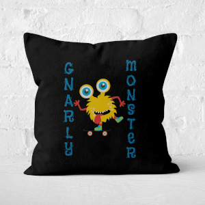 Gnarly Monster Square Cushion