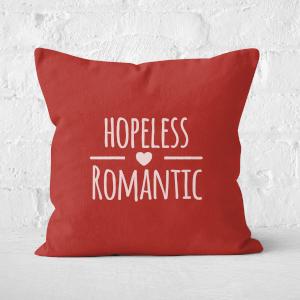 Hopeless Romantic Square Cushion