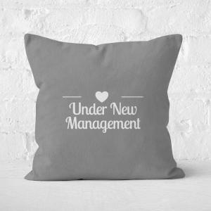Under New Management Square Cushion
