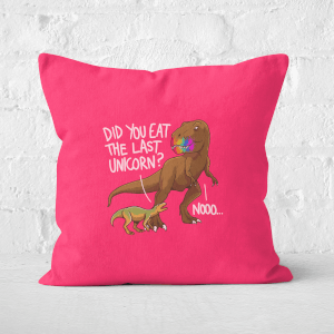 Dinosaur Unicorn Square Cushion