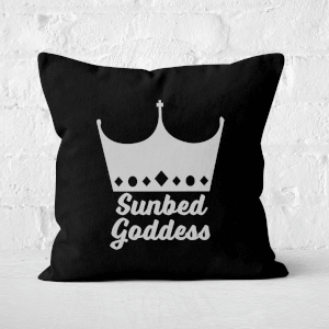 Sunbed Goddess Square Cushion