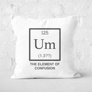 The Element Of Confusion Square Cushion