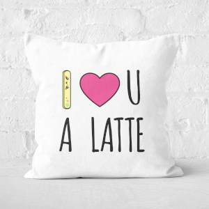 I Love U A Latte Square Cushion