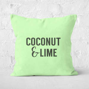 Coconut And Lime Square Cushion