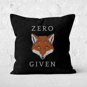 Zero Fox Given Square Cushion