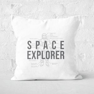 Space Explorer Schematic Square Cushion