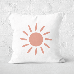 Pressed Flowers Sun Square Cushion