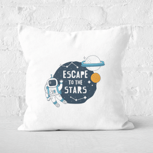 Escape To The Stars Square Cushion