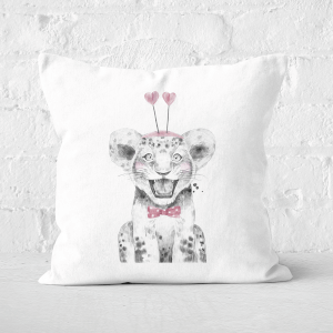 Pressed Flowers Hearty Cub Square Cushion