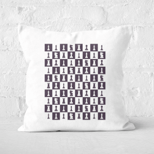 Chess Board Repeat Pattern Monochrome Square Cushion