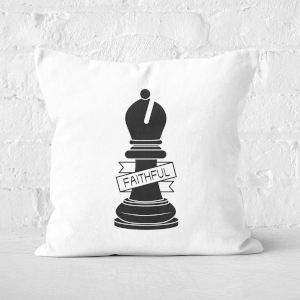 Bishop Chess Piece Faithful Square Cushion