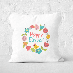 Pressed Flowers Easter Reef Square Cushion