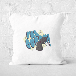 Yas Queen! Cartoon Square Cushion