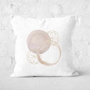 Watercolour Swirls Square Cushion