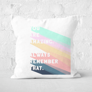 Pressed Flowers You Are Amazing Square Cushion
