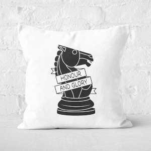 Knight Chess Piece Honour And Glory Square Cushion