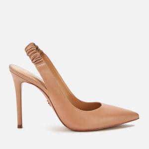 MICHAEL MICHAEL KORS Women's Raleigh Leather Sling Back Court Shoes - Dark Camel