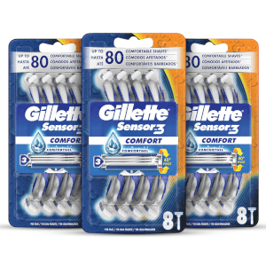 Gillette Sensor3 Disposable Razors (24 Pack - 3 Month)