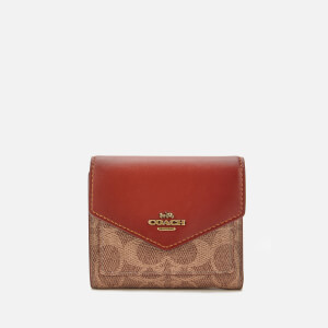 Coach Women's Colorblock Signature Small Wallet - Tan Rust