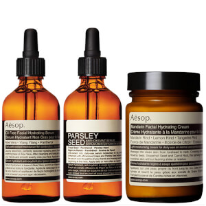 Aesop Mandarin Facial Cream, Parsley Seed Serum and Lightweight Serum Bundle (Worth £153.00)