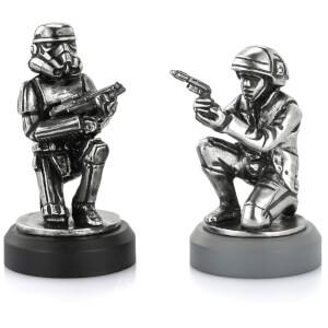 Pièces d'échec Soldat de l'Alliance Rebelle et Stormtrooper Star Wars - Royal Selangor