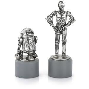 Piezas de ajedrez R2D2 & C3PO Star Wars (Caballo) - Royal Selangor