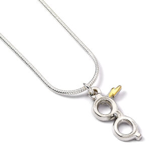 Harry Potter Silver Plated Lightning Bolt with Glasses Necklace from I Want One Of Those