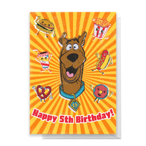 Scooby Doo 5th Birthday Greetings Card