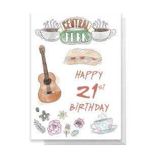 Friends Birthday 21st Greetings Card