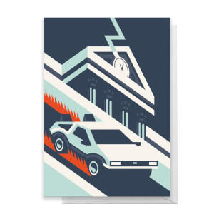 Back To The Future Greetings Card