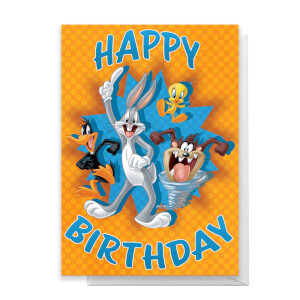 Looney Tunes Group Happy Birthday Greetings Card
