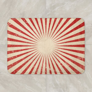 Circus Beams Red Bath Mat