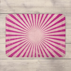 Circus Beams Pink Bath Mat