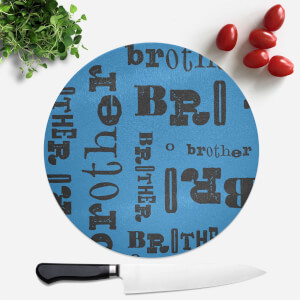 Vintage Brother Pattern Round Chopping Board