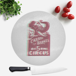 Carson And Barnes Big Five Ring Circus Round Chopping Board