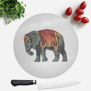 Circus Elephant Round Chopping Board