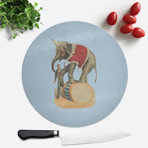 Elephant Tricks Round Chopping Board