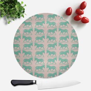 Zebra Round Chopping Board
