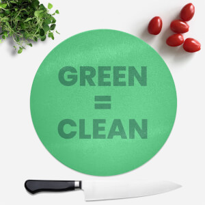 Green = Clean Round Chopping Board