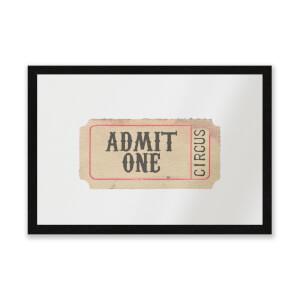 Circus Ticket Entrance Mat