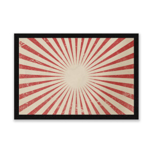 Circus Beams Red Entrance Mat