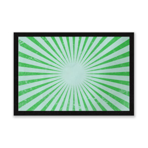 Circus Beams Green Entrance Mat