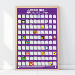 100 Board Games Scratch Off Bucket List Poster