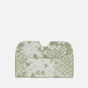 Núnoo Women's Carla Snake Card Holder - Light Green