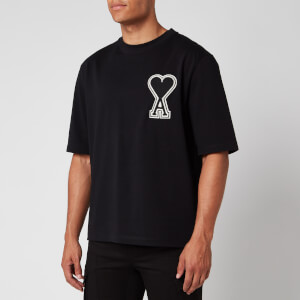 AMI Men's De Coeur T-Shirt - Black