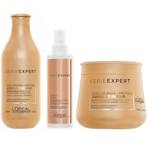 L'Oréal Professionnel Absolut Repair at Home Experts for Damaged Hair Bundle